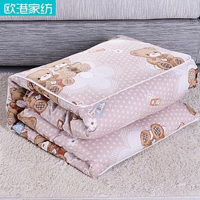 欧港家纺 全棉靠垫被抱枕被 纯棉空调被 枕头被子两用抱枕zhentou