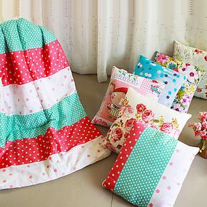 芙俪舍纯棉抱枕被办公室午休被汽车空调被创意两用靠垫被子全棉