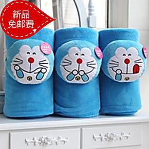 2米机器猫空调被抱枕被子 两用哆啦A梦空调毯子靠垫被午休被包邮