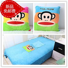 2米大嘴猴空调被抱枕被子 两用空调毯子靠垫被 车用被午休被包邮