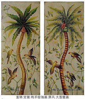 艺精画坊纯手绘油画家庭装饰画挂画无框画东南亚风景油画大型壁画