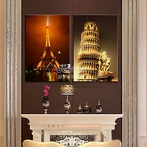 雅创家居装饰现代简约客厅装饰品玄关墙面装饰画走廊挂画名胜古塔