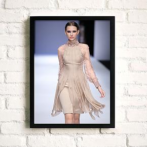 服装店装饰画 女装店有框画 时装店挂画 书房客厅走廊壁画墙面画