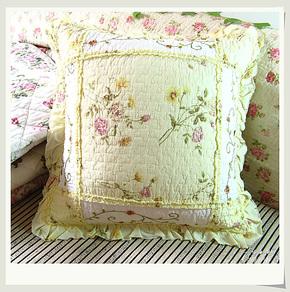 全棉裙边靠垫套家居简易靠枕套纯棉抱枕套沙发腰枕女友抱枕套生日