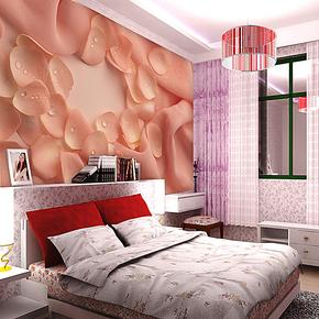 唯美特价大型3d壁画立体 客厅卧室电视墙背景墙壁纸墙画 温馨花瓣
