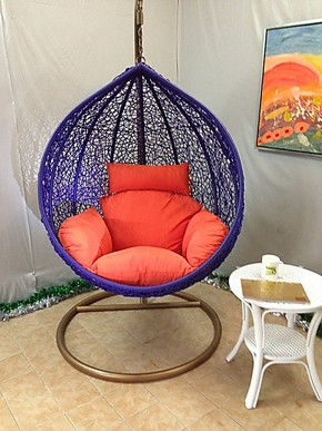 送坐垫 藤椅 懒人沙发 休闲椅 吊椅 秋千 仿藤吊篮 摇椅 加固鸟巢