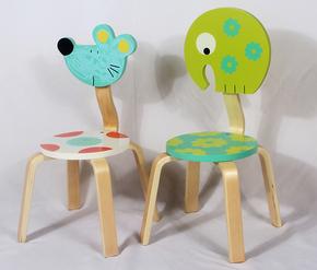 荷兰原单 卡通木制 曲木儿童椅 可层叠 靠背椅 幼儿园椅 桌椅套