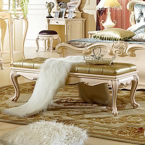 好日子 欧式家具 床尾凳 欧式 宜家 实木 床尾凳 装饰凳 特价