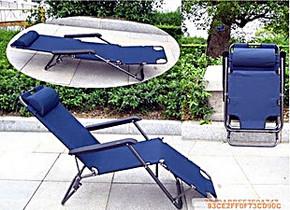 178加长折叠椅坐躺两用躺椅可放平当床办公室午睡椅子带枕头