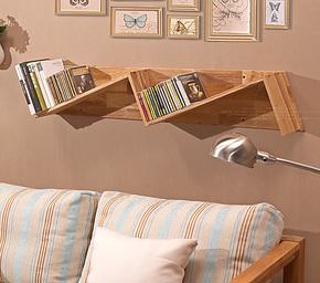 大容量壁挂架 创意CD架 书架 DVD架 实木杂物架 实木书架 置物架