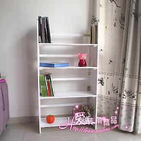 特价 田园创意 四层书柜 书架 简易 格架 层架 花架 置物架 白色