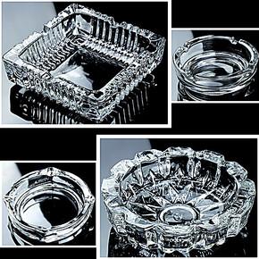 新品 烟灰缸 玻璃烟缸欧式创意大号个性烟灰缸 多款样式 彩盒装
