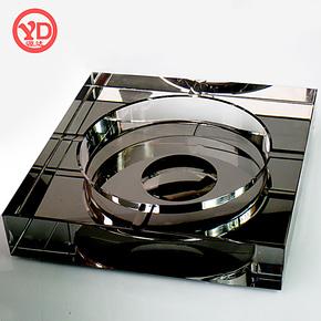 源达 高档水晶烟灰缸创意个性时尚欧式复古大号精品实用礼品礼物