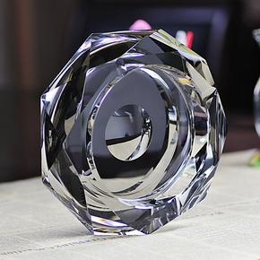 晶迪水晶烟灰缸创意复古时尚精品欧式大号烟缸送男友老爸礼物实用