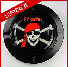 金属 创意个性 时尚 骷髅烟灰缸 精品 批发酒吧宾馆网吧适用 海盗