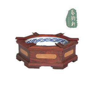 特价包邮 老挝大红酸枝烟灰缸 红木烟灰缸 高档烟缸 木雕工艺摆件