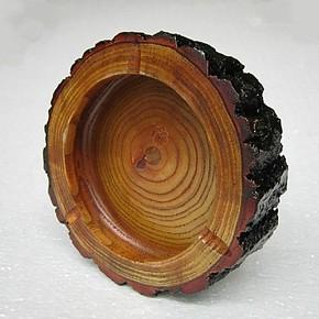 时尚创意实木烟灰缸 大号欧式红木烟灰缸 家居个性用品 特价包邮