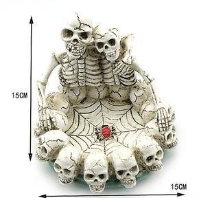 骷髅情侣 树脂 超大号 可爱 时尚生日礼物 送男友老公 骨头烟灰缸