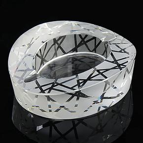 商务礼品个性创意摆件实用家居客厅水晶烟灰缸欧式时尚鸟巢烟缸