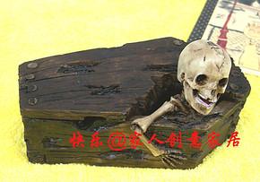 创意树脂工艺烟灰缸/骷髅头/骷髅烟灰缸/棺材烟灰缸/生日礼物