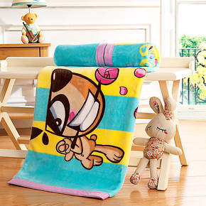 【天天特价】盛宇家纺儿童毛毯小孩毯子学生毛毯幼儿园床上用品