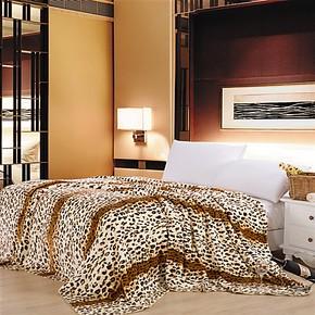 盛宇家纺新款厂家批发家纺家居床上用品单层云毯毛毯豹纹毯子