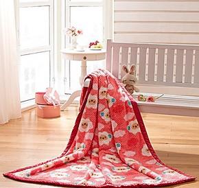 盛宇家纺 学生毛毯 床上用品春秋毛毯 毯子可爱卡通 客隆彩