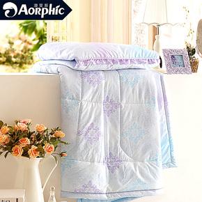 超柔纤维斜纹绗缝印花 适用于儿童单人双人 夏凉被空调被午睡被芯