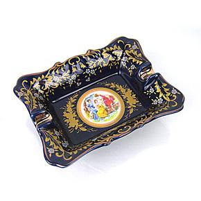 5寸长方形烟灰缸/高档欧式古典陶瓷烟灰缸/碟/时尚/复古