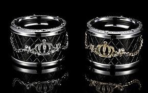 anjuny安程皇冠系列饮料架 杯架 烟灰缸架 施华洛世奇专柜正品