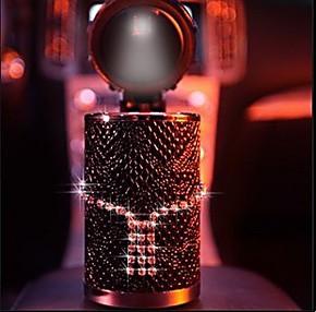 新款 正品 pesox施华洛世奇水晶奢华LED烟灰缸/时尚高档车载礼品
