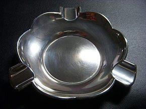 英国古董纯银烟灰缸