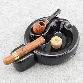 英国ROYAL CROWN皇冠骨瓷烟斗架烟灰缸 雪 茄烟灰缸 两用烟灰缸