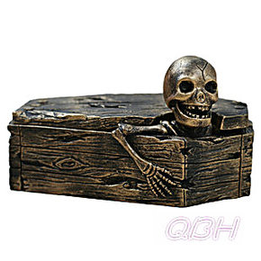 包邮130426 时尚创意个性装饰男朋友男士礼物 骷髅棺材带盖烟灰缸