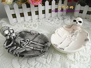 创意个性骷髅烟灰缸吸烟有害健康戒烟烟灰缸 男生生日礼物公益品