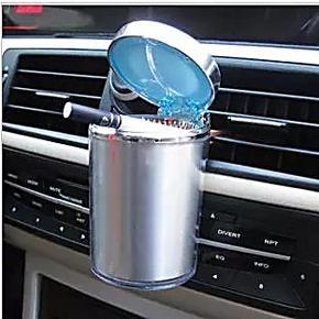 包邮车载烟灰缸带出风口挂式烟灰缸带led灯车用烟灰缸汽车烟灰缸