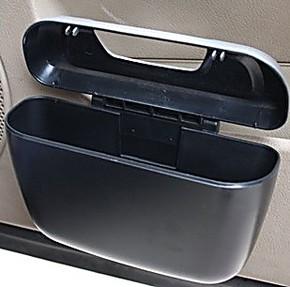 汽车用品车载垃圾桶 置物桶多功能可挂式 垃圾桶 烟灰缸置物箱