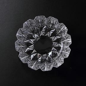 智窗 小型水晶烟缸 时尚创意圆形 个性烟灰缸 玻璃烟缸 家居礼物