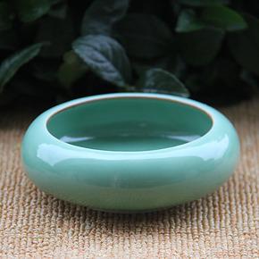 龙泉青瓷 新品翠玉陶瓷防风型小型烟灰缸 陶瓷 笔洗公司礼品定制