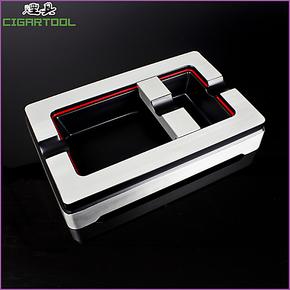 B-3026COHIBA纯金属拉丝雪 茄烟灰缸 可调烟槽设计