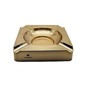 COHIBA高希霸烟灰缸雪 茄烟灰缸镀金纯金属雪 茄烟缸4支雪 茄烟缸