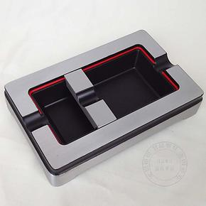纯金属COHIBA雪 茄专用烟灰缸 可调烟槽设计