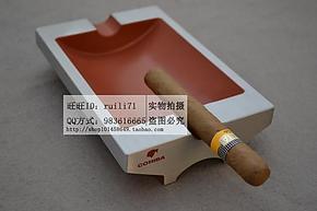 COHIBA高希霸 纯金属 雪 茄专用烟灰缸 双烟槽 铝合金制 特价!
