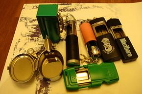 便携带盖口袋便携个性时尚车用烟灰缸 可携带防风创意烟缸
