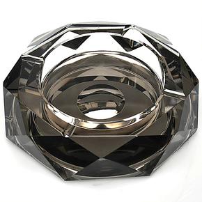 正品时尚水晶烟灰缸水晶创意礼品特大号精品欧式烟缸特价批发定做