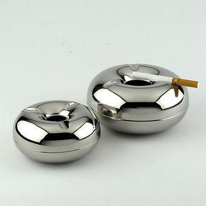 丹麦银苹果烟灰缸 烟盅 不锈钢烟灰缸 时尚创意时尚烟缸 男士礼物