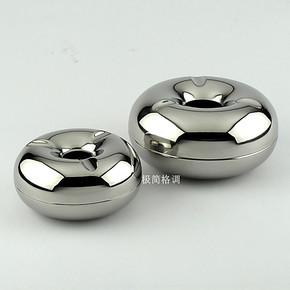 丹麦银苹果烟灰缸 烟盅 不锈钢烟灰缸 创意时尚烟缸 男士礼物