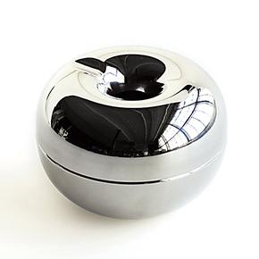 烟缸/烟灰缸/金属烟缸/丹麦欧森丹尔/Rosendahl大号银苹果烟灰缸