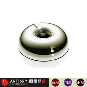 上海实体!银苹果时尚烟灰缸/防风烟灰缸/不绣钢烟灰缸/创意烟缸