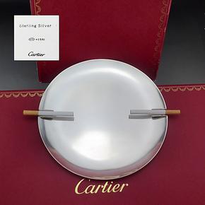 西洋古董银器 卡地亚/cartier/纯银/烟灰缸